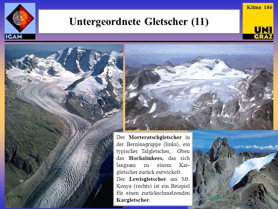 Untergeordnete Gletscher (11)