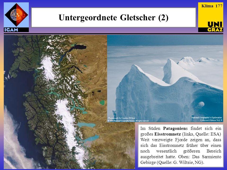 Untergeordnete Gletscher (2)