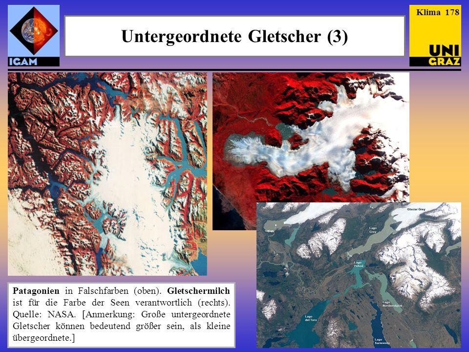 Untergeordnete Gletscher (3)
