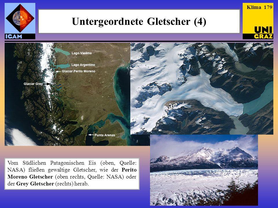 Untergeordnete Gletscher (4)