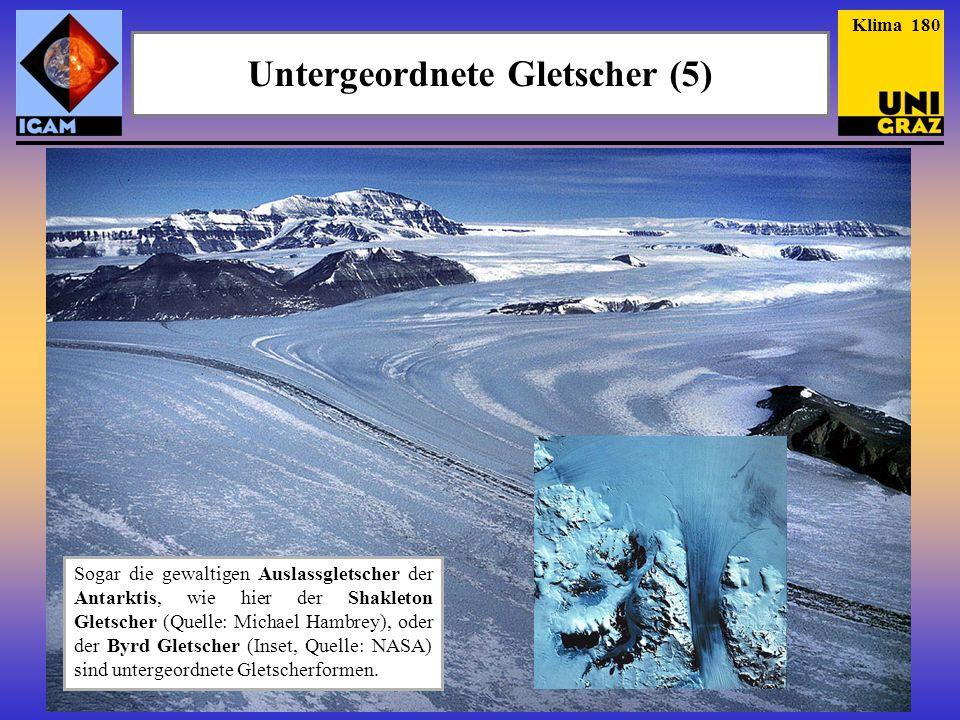 Untergeordnete Gletscher (5)