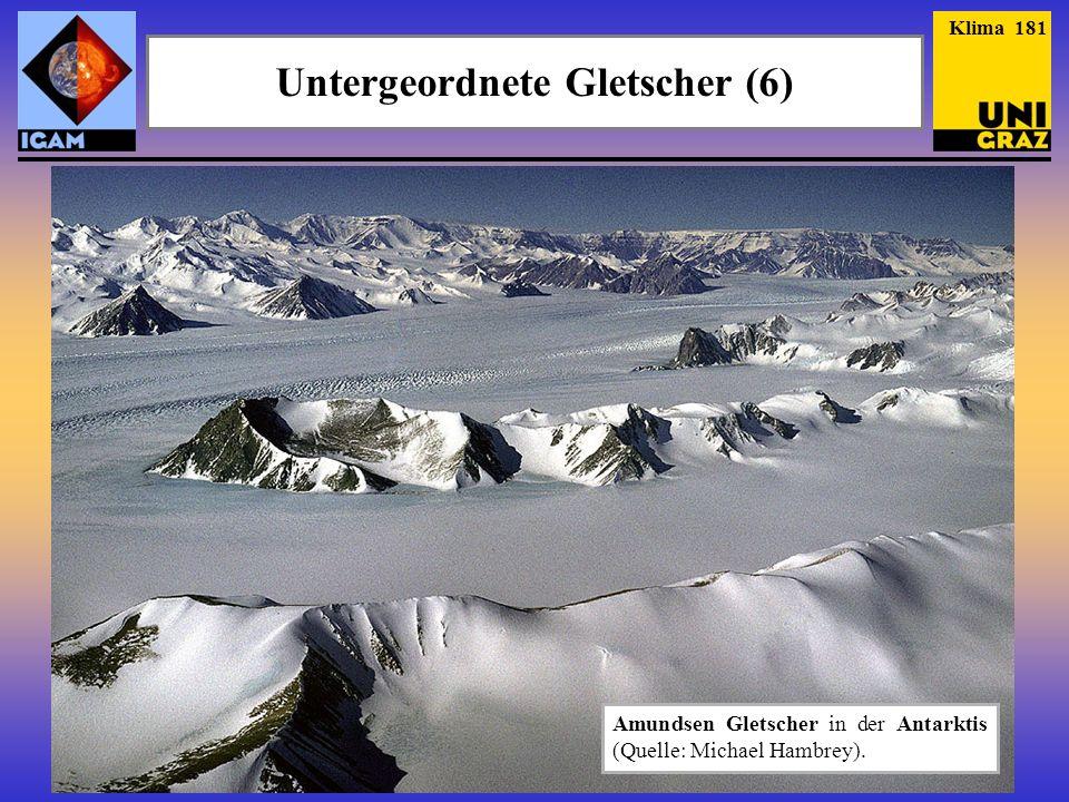 Untergeordnete Gletscher (6)