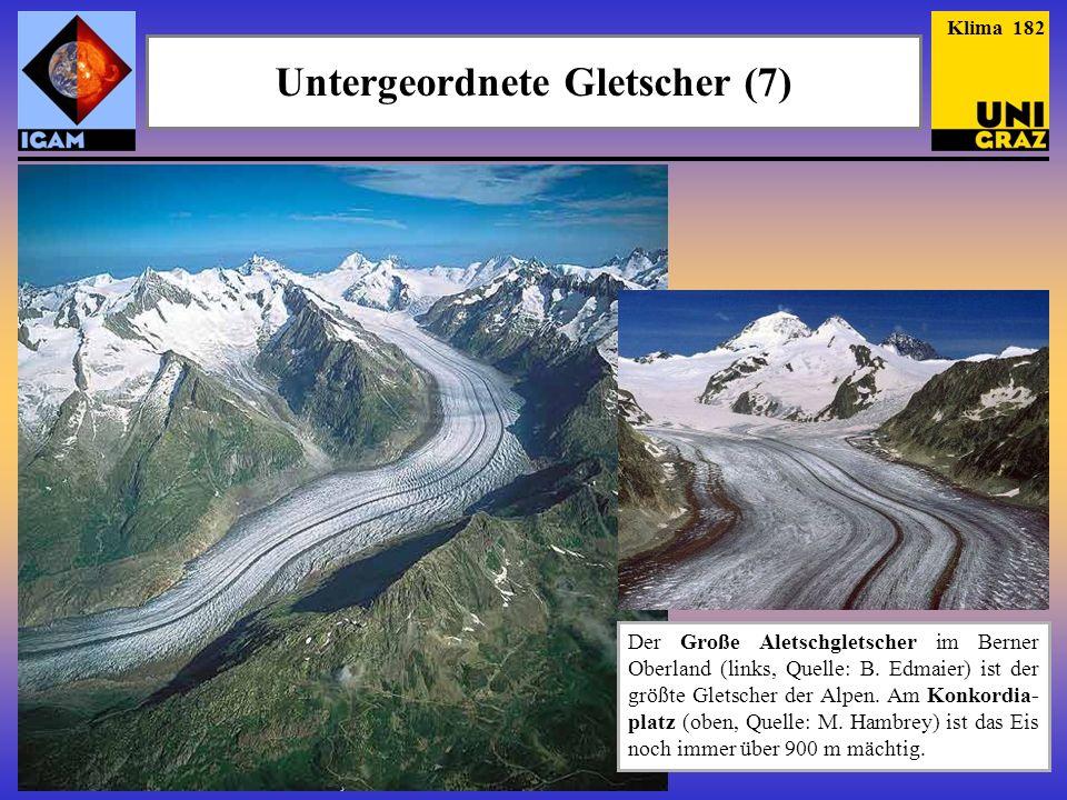 Untergeordnete Gletscher (7)