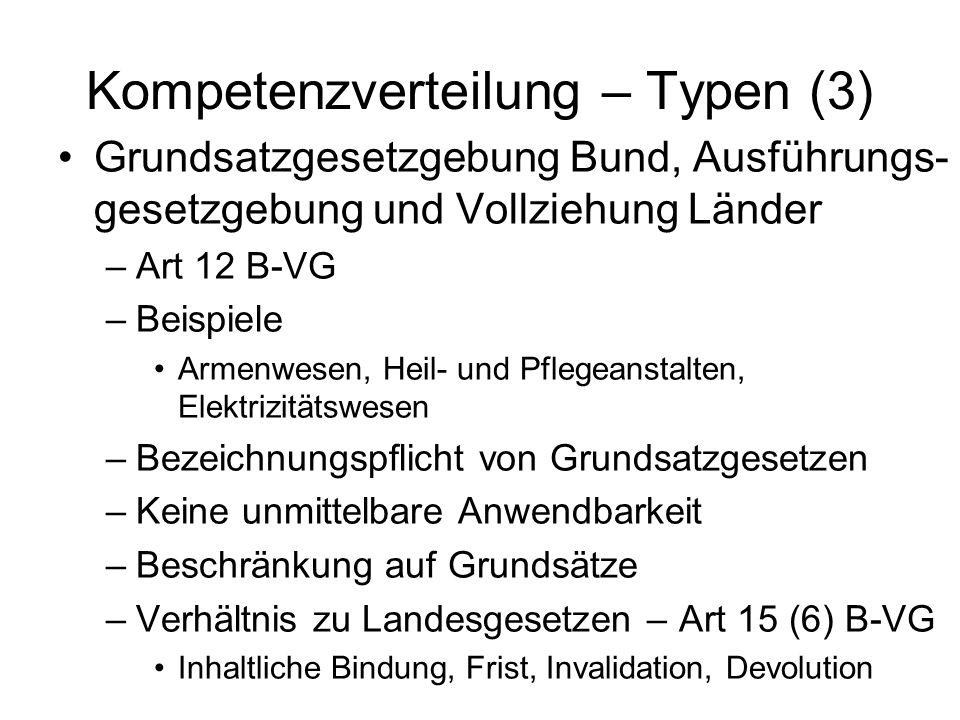 Kompetenzverteilung – Typen (3)
