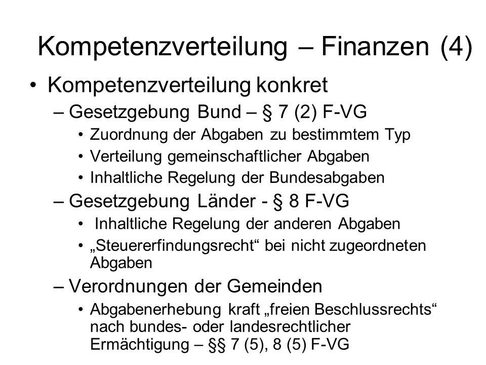 Kompetenzverteilung – Finanzen (4)