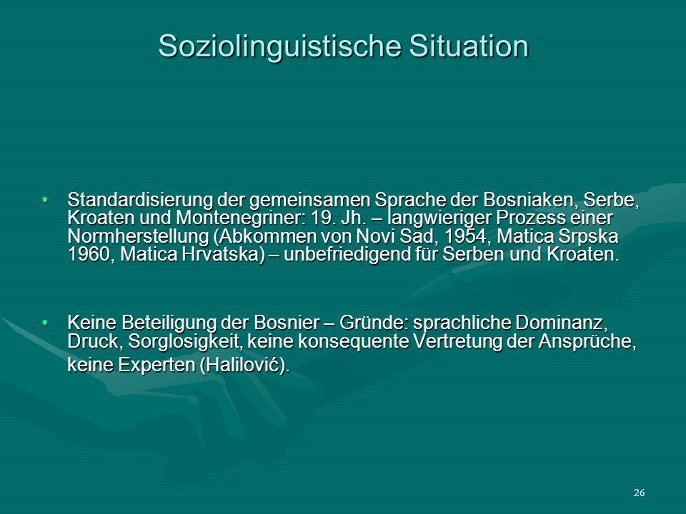 Soziolinguistische Situation