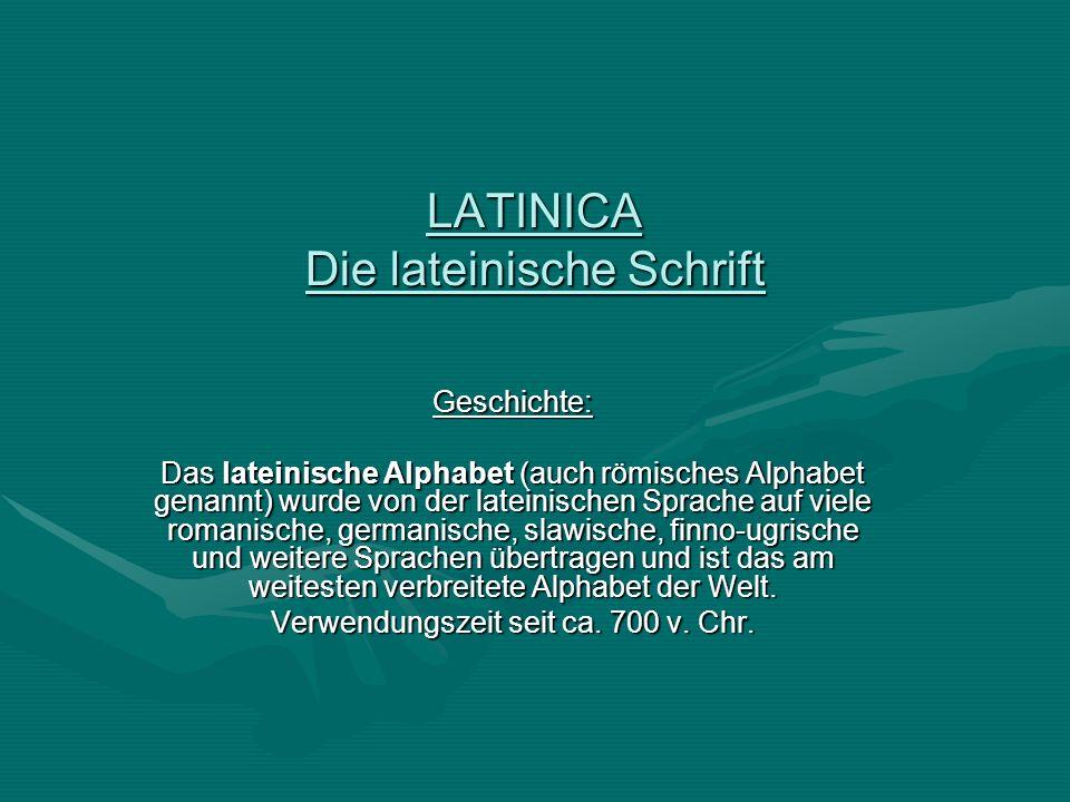 LATINICA Die lateinische Schrift