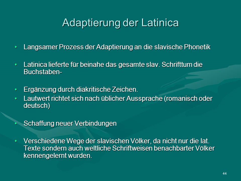 Adaptierung der Latinica
