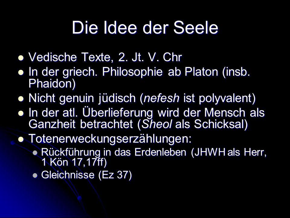 Die Idee der Seele Vedische Texte, 2. Jt. V. Chr