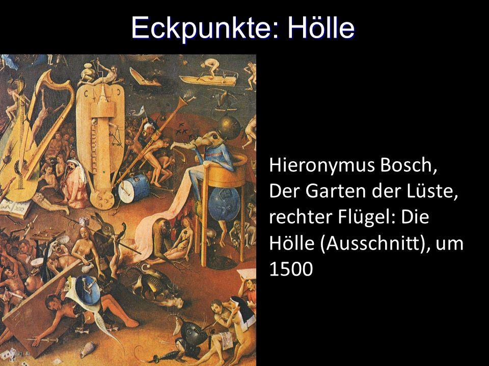 Eckpunkte: Hölle Hieronymus Bosch, Der Garten der Lüste, rechter Flügel: Die Hölle (Ausschnitt), um 1500.