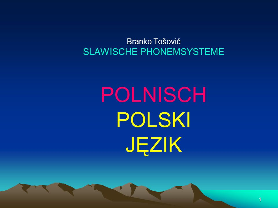 SLAWISCHE PHONEMSYSTEME