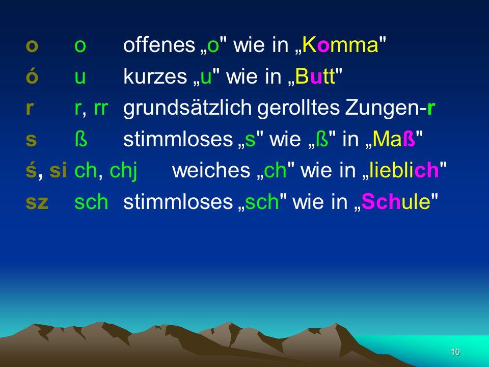 """o o offenes """"o wie in """"Komma"""