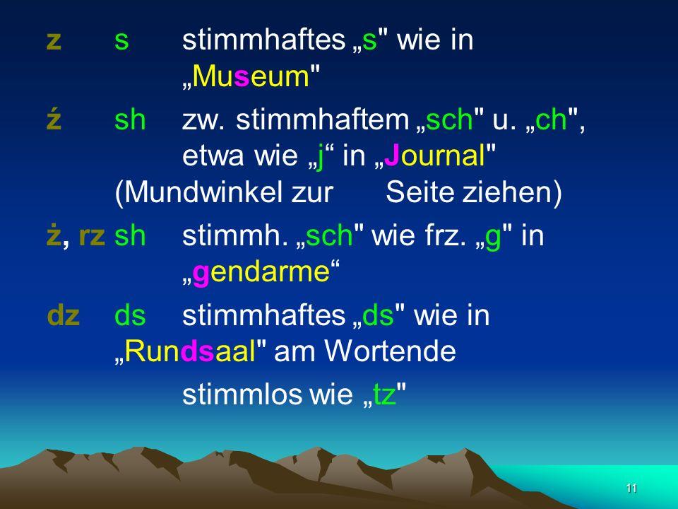 """z s stimmhaftes """"s wie in """"Museum"""