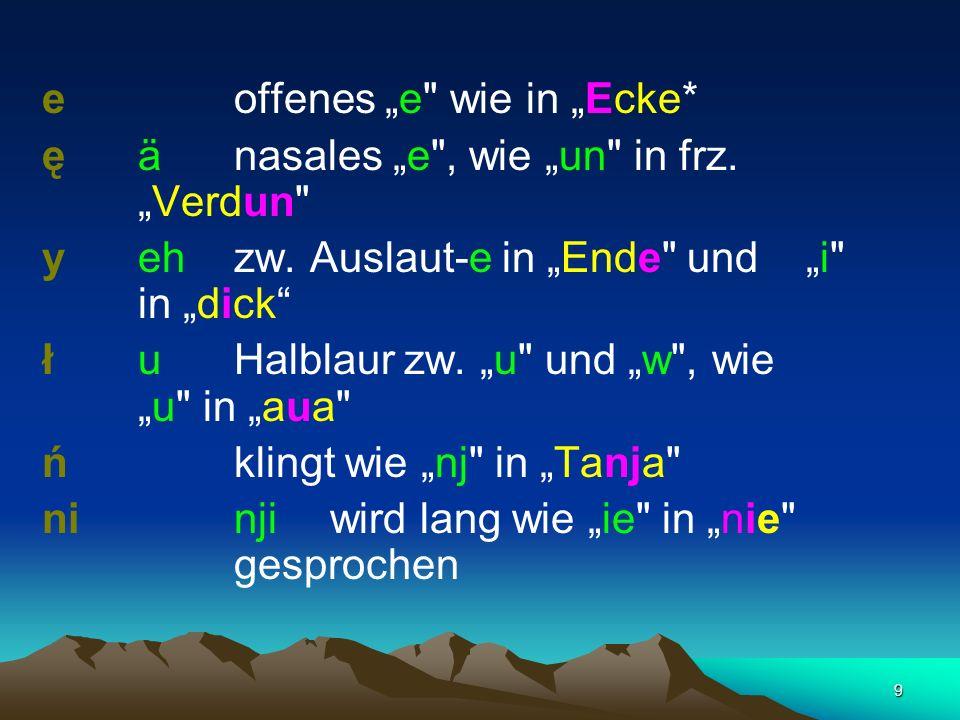 """e offenes """"e wie in """"Ecke*"""