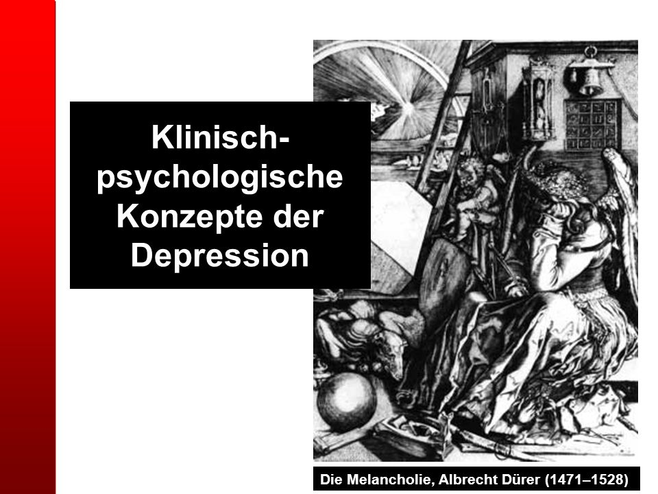 Klinisch-psychologische Konzepte der Depression