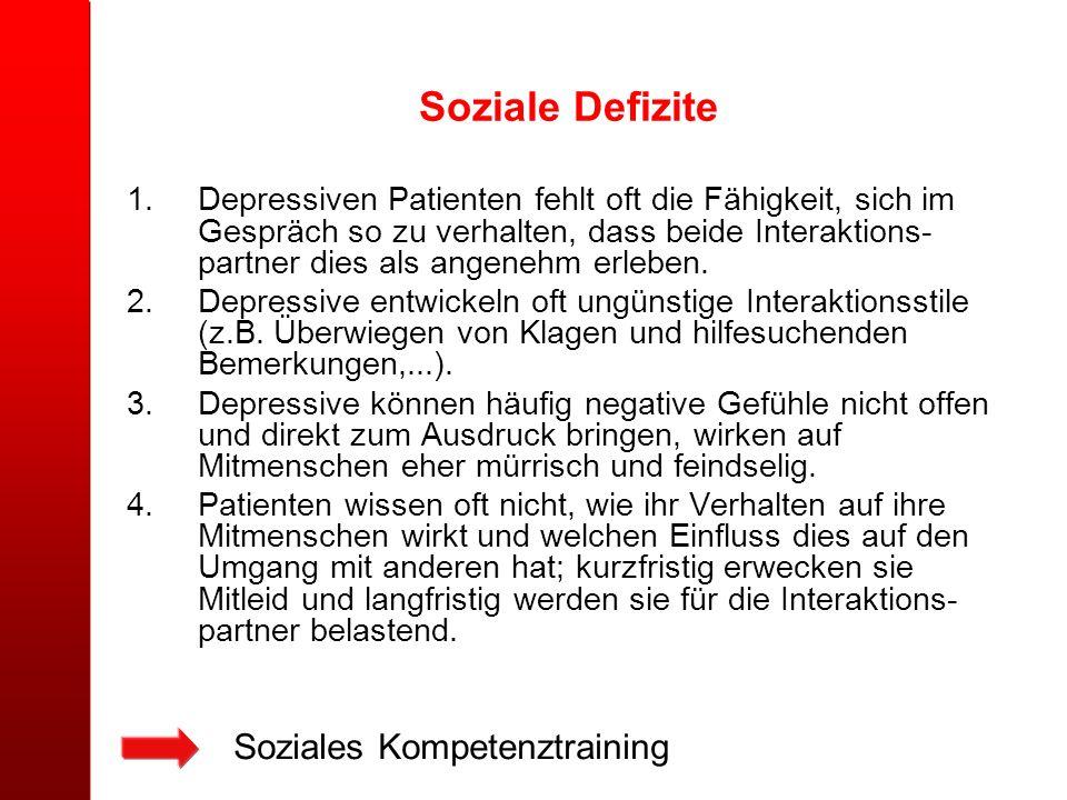 Soziale Defizite Soziales Kompetenztraining