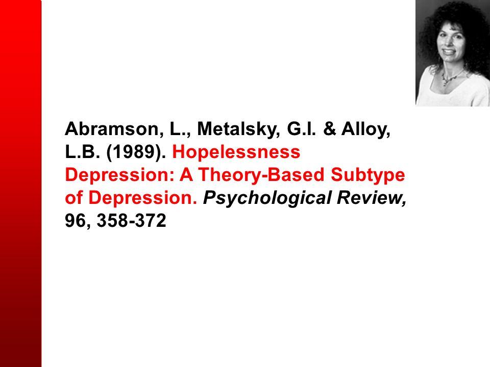 Abramson, L. , Metalsky, G. I. & Alloy, L. B. (1989)