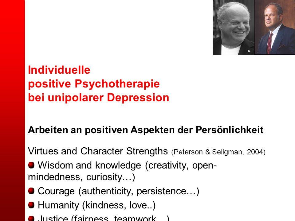 positive Psychotherapie bei unipolarer Depression