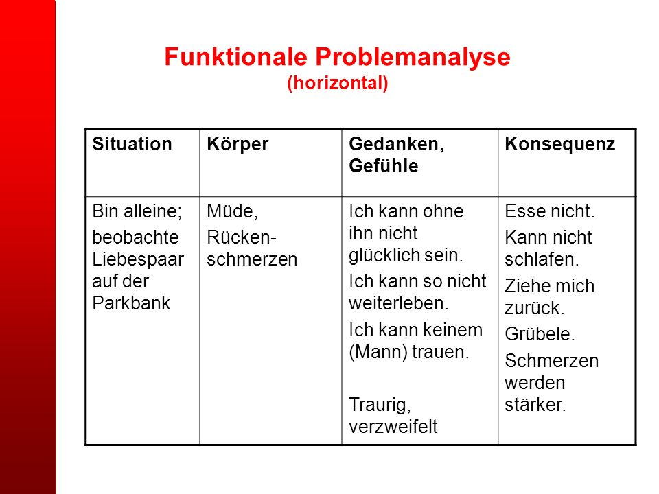 Funktionale Problemanalyse (horizontal)
