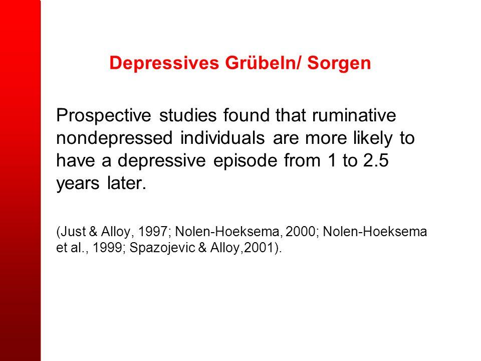 Depressives Grübeln/ Sorgen