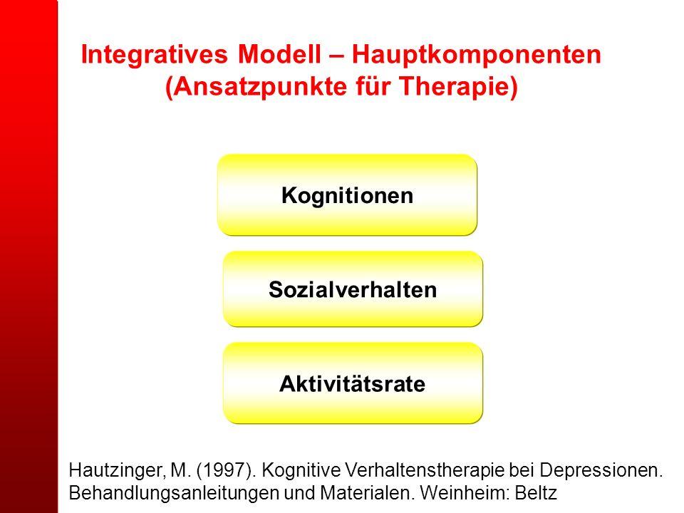Integratives Modell – Hauptkomponenten (Ansatzpunkte für Therapie)