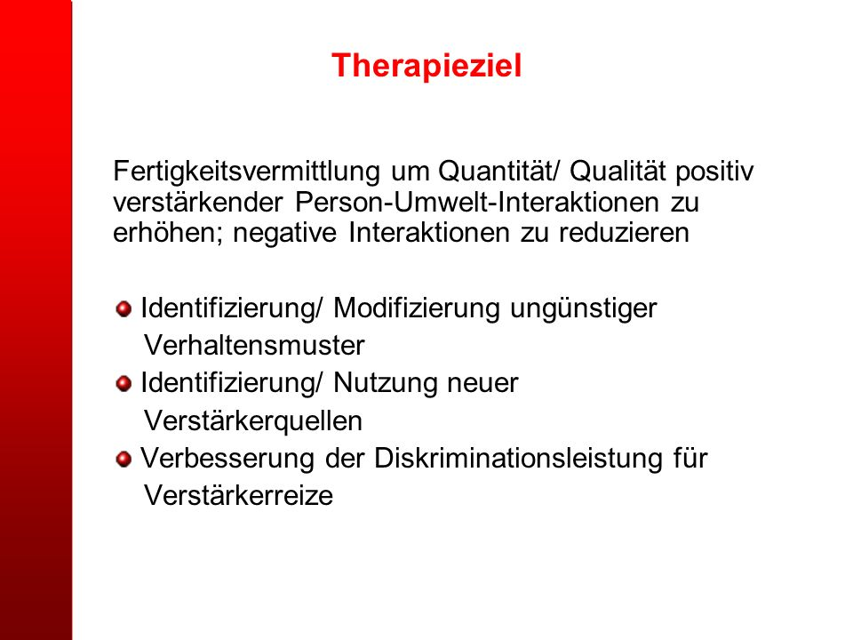 Therapieziel