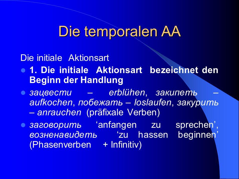Die temporalen AA Die initiale Aktionsart
