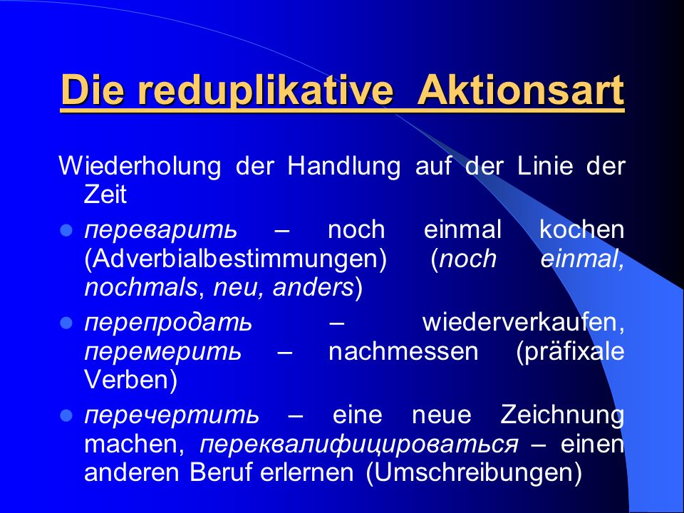 Die reduplikative Aktionsart