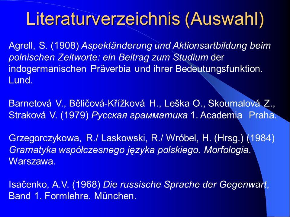Literaturverzeichnis (Auswahl)