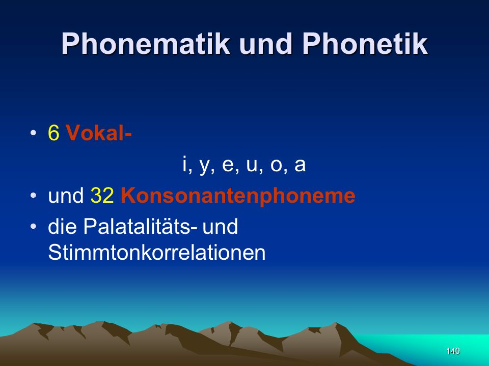 Phonematik und Phonetik