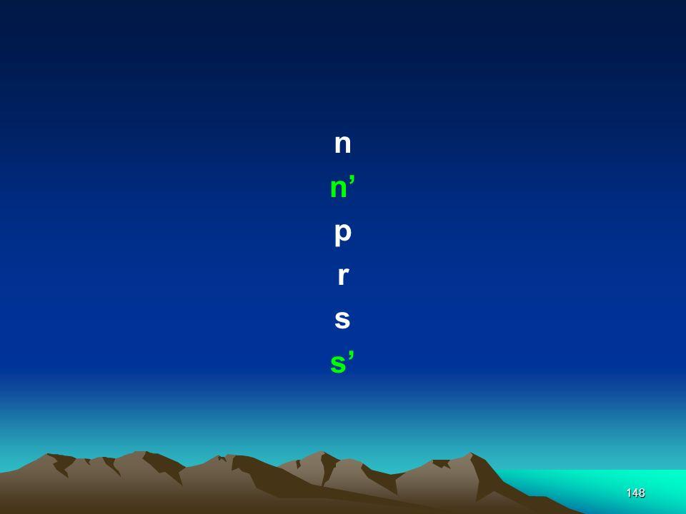 n n' p r s s'