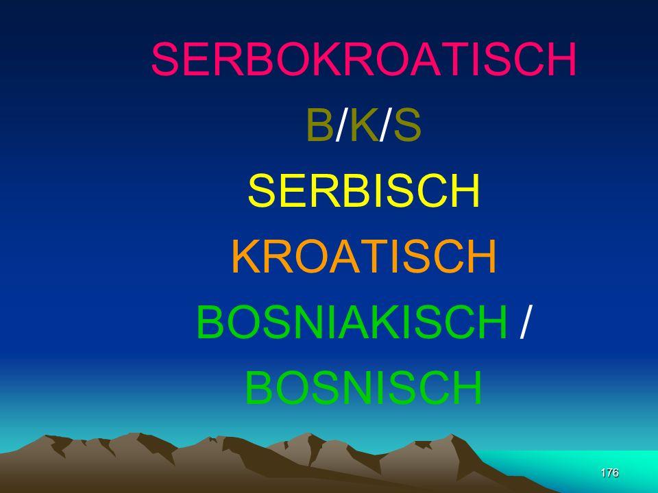 SERBOKROATISCH B/K/S SERBISCH KROATISCH BOSNIAKISCH / BOSNISCH
