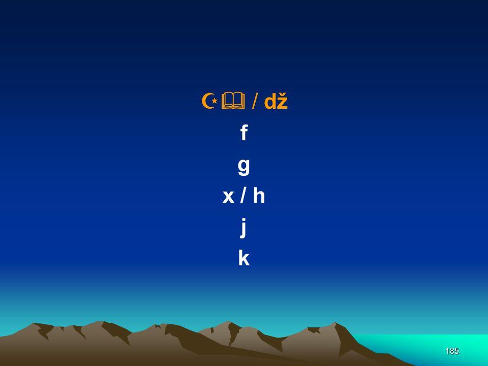  / dž f g x / h j k