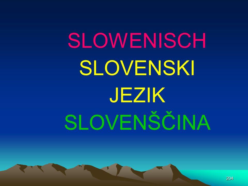 SLOWENISCH SLOVENSKI JEZIK SLOVENŠČINA