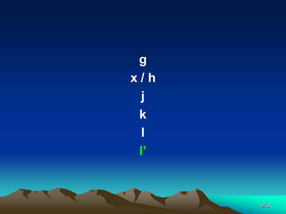 g x / h j k l l'