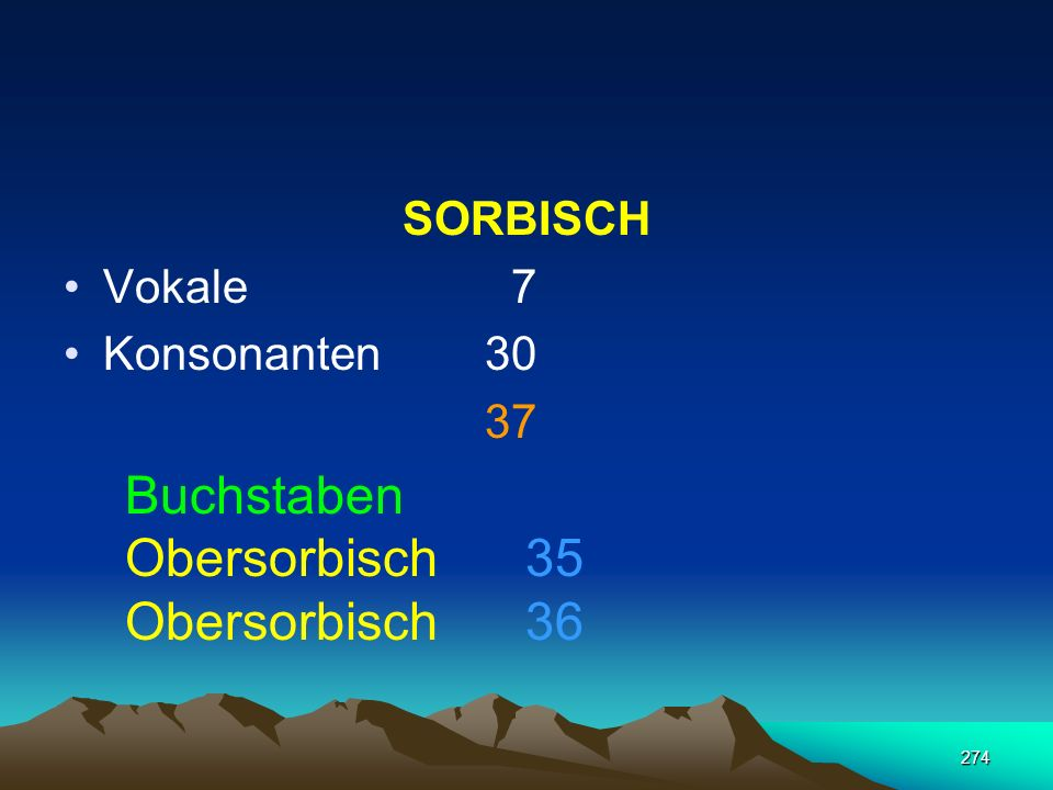 Buchstaben Obersorbisch 35 Obersorbisch 36 SORBISCH Vokale 7