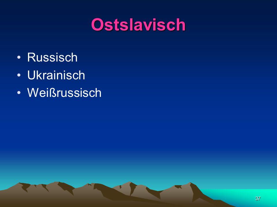 Ostslavisch Russisch Ukrainisch Weißrussisch