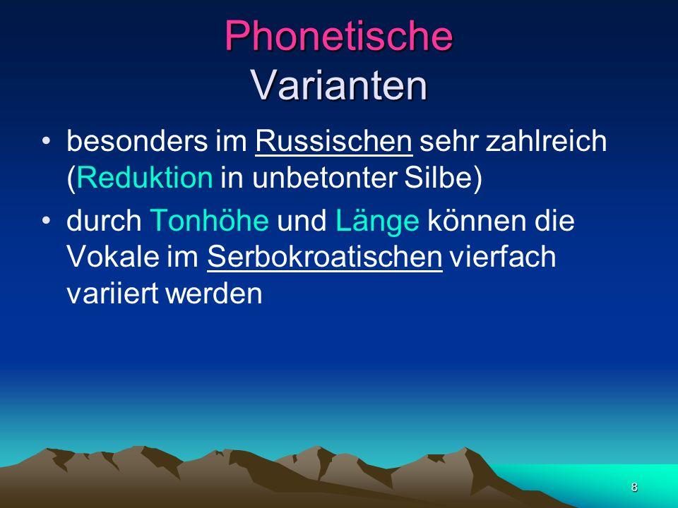 Phonetische Varianten