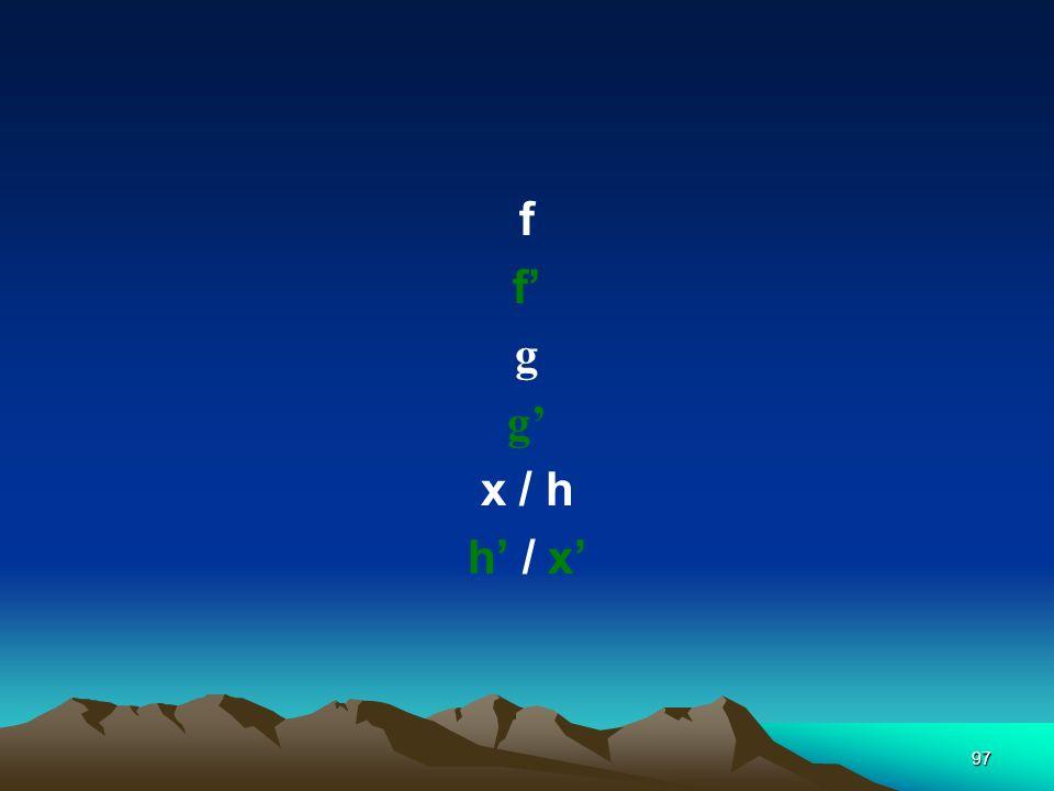 f f' g g' x / h h' / x'