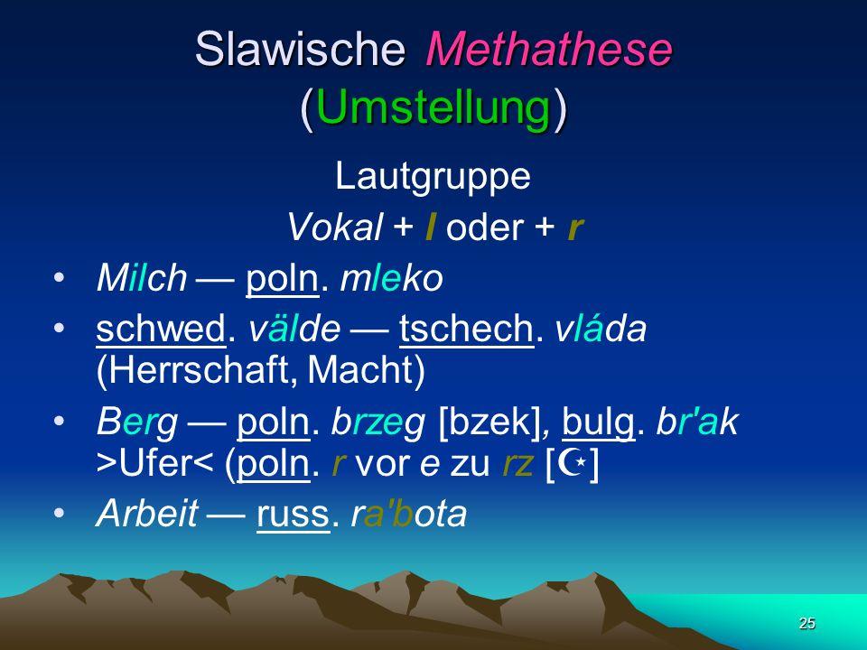 Slawische Methathese (Umstellung)