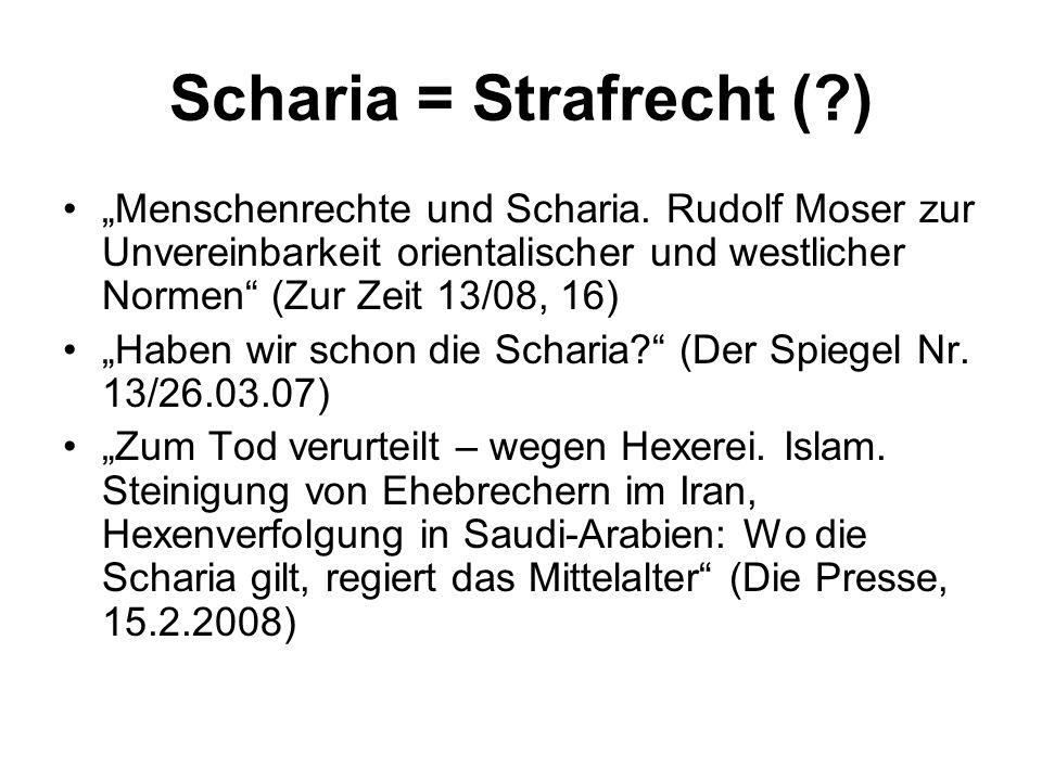Scharia = Strafrecht ( )