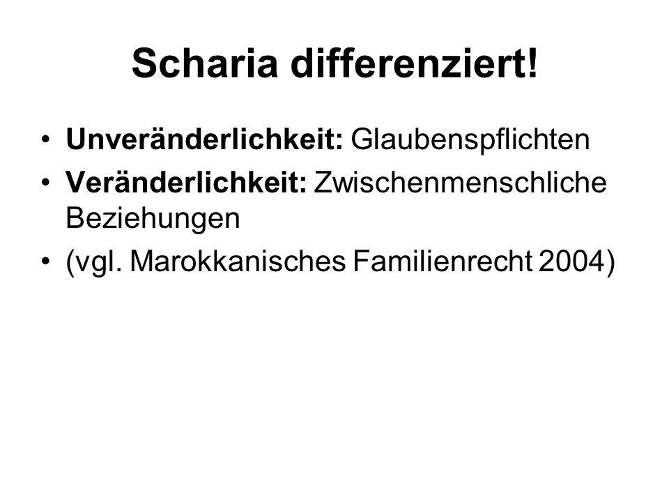 Scharia differenziert!