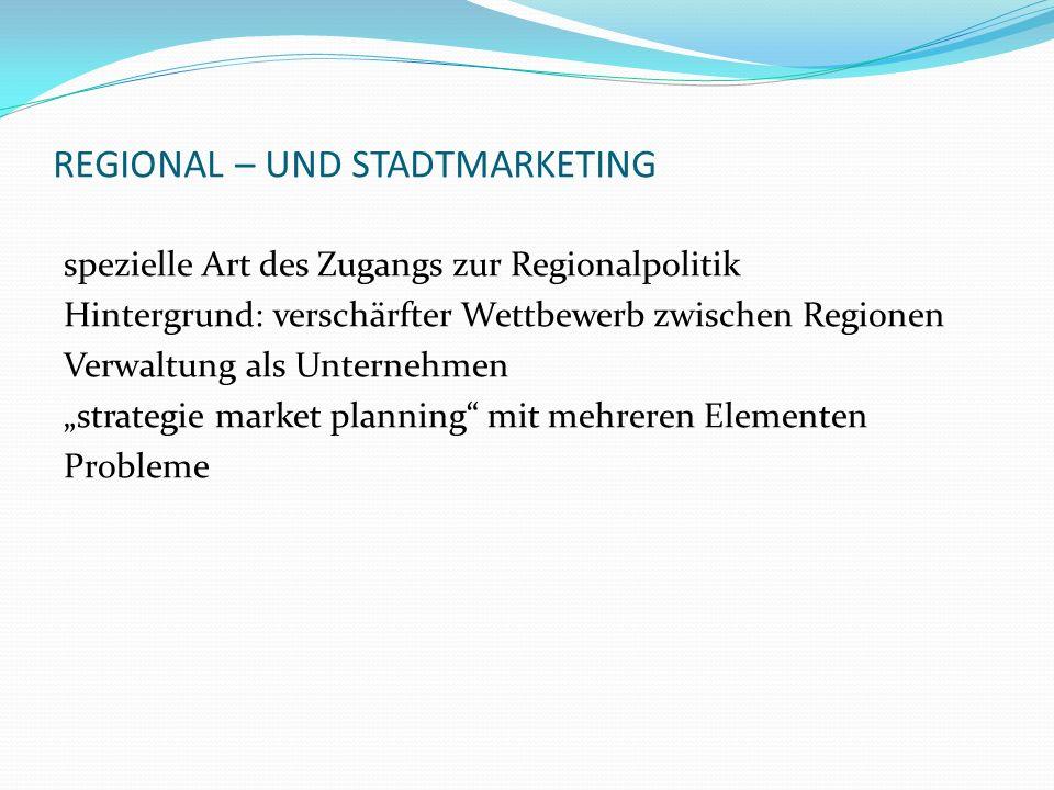 REGIONAL – UND STADTMARKETING
