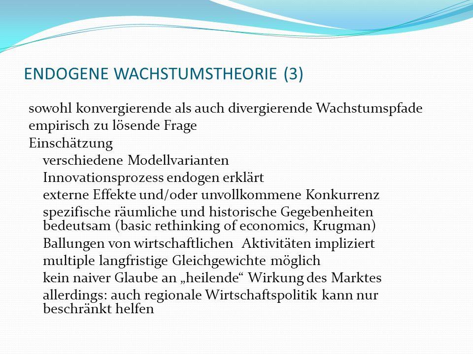 ENDOGENE WACHSTUMSTHEORIE (3)