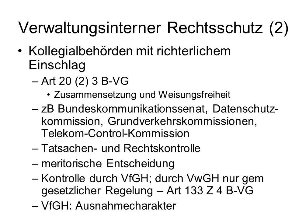 Verwaltungsinterner Rechtsschutz (2)