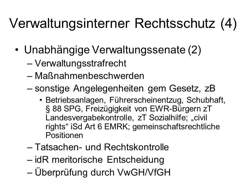 Verwaltungsinterner Rechtsschutz (4)