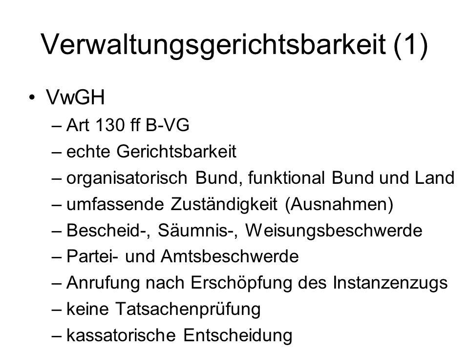 Verwaltungsgerichtsbarkeit (1)