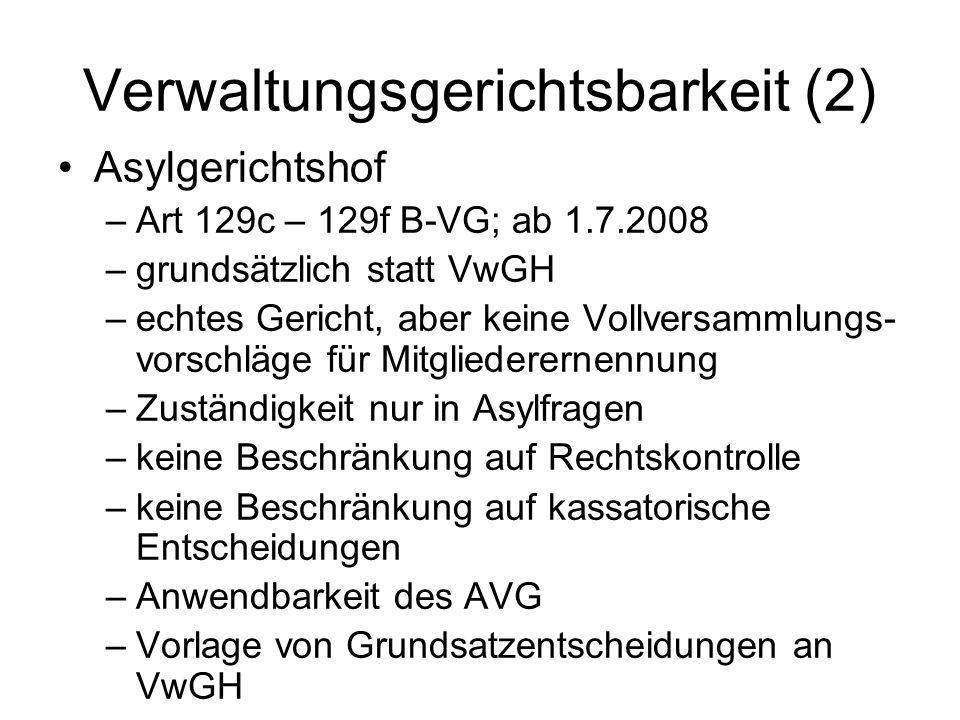 Verwaltungsgerichtsbarkeit (2)