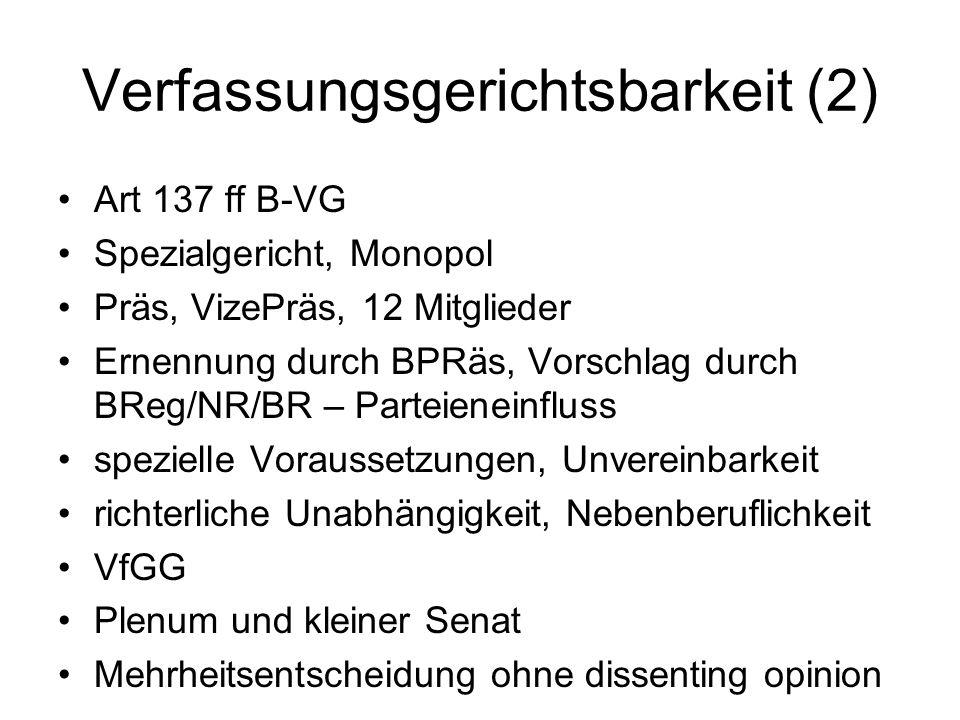 Verfassungsgerichtsbarkeit (2)