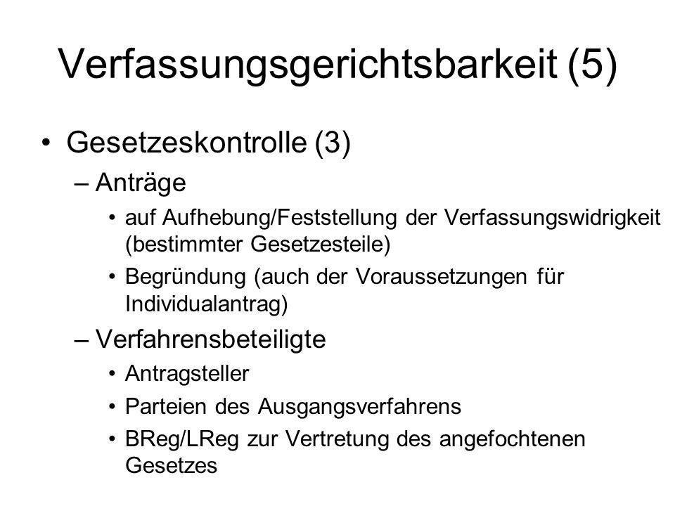 Verfassungsgerichtsbarkeit (5)